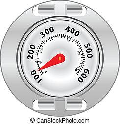 parrilla, superficie, termómetro