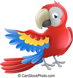 Parrot Animal Cartoon Character