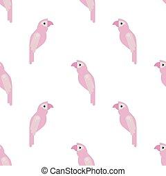 Parrot Ara Seamless Colorful Pattern