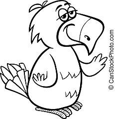 parrot bird cartoon coloring page
