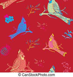 Parrot Bird Seamless Background