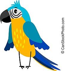 Parrot cartoon bird icon