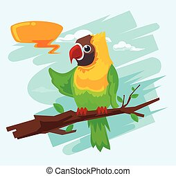 Parrot cartoon macaw