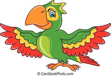Parrot Cartoon Standing