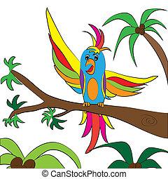 parrot color page