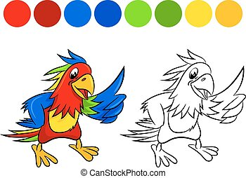 Parrot coloring book.