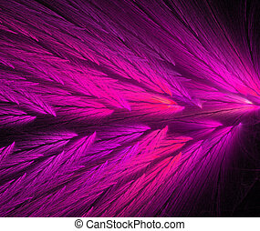 Parrot Feather Fractal in Hot Pink
