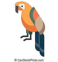 Parrot flat illustration
