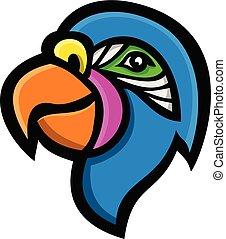 parrot-head-side-mascot