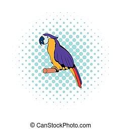 Parrot icon, comics style