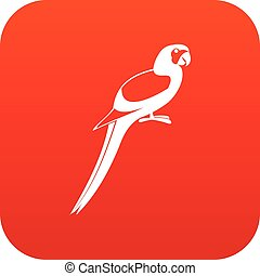 Parrot icon digital red