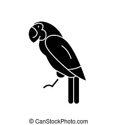parrot icon, vector illustration, sign on isolated background