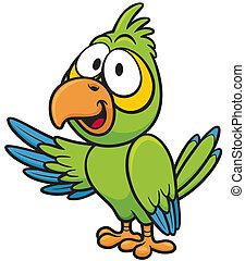 Parrot - Vector illustration of cartoon parrot