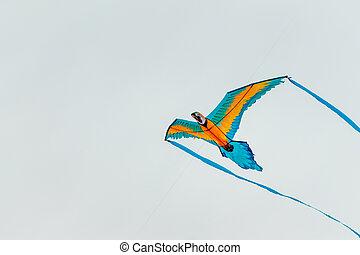 Parrot kite flying in the sky