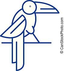 Parrot line icon concept. Parrot flat vector symbol, sign, outline illustration.