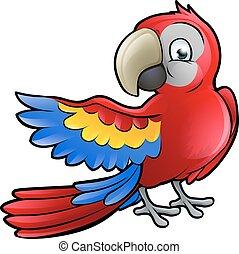 Parrot Safari Animals Cartoon Character