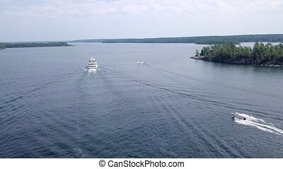 Parry Sound, Ontario. Island Queen Cruise - Flying with...