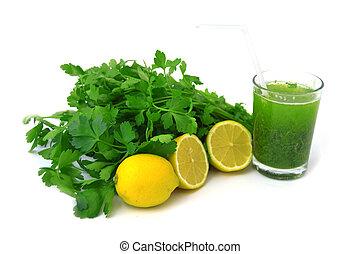 parsley and lemon juice