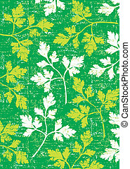 Parsley background on green. - Parsley wallpaper vertical on...