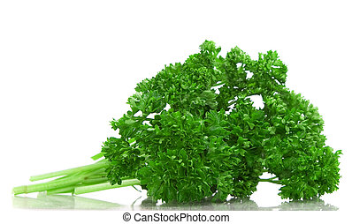 Parsley - Fresh green parsley isolated over white background