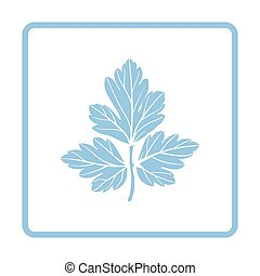 Parsley icon. Blue frame design. Vector illustration.