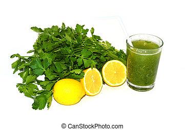 parsley lemon juice to lose weight