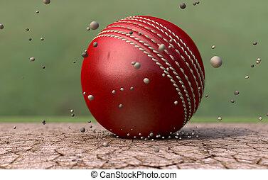 partículas, pelota de grillo, suelo, notable