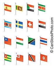 (part, 11), set, icona, bandiera