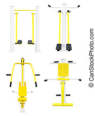 gym machines - Part 2. Set of gym machines for legs, chest,...