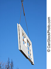 Part a prefabricated house - assembling a prefabricated...