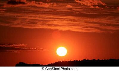 (part, coucher soleil, 2), rouges