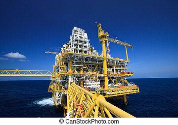 part felől, gáz, emelvény, olaj