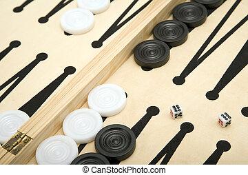 Backgammon - Part of a Backgammon set + Dice.