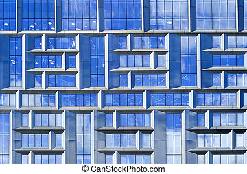 Part of a high-rise building of Moscow-city, Russia, Moscow, July 2017.