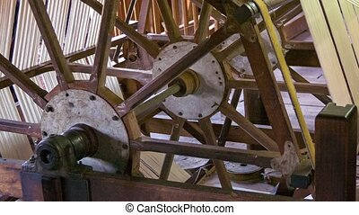 Part of a machine for the production of yarn. Burma - Video...