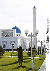 Part of a white mosque.
