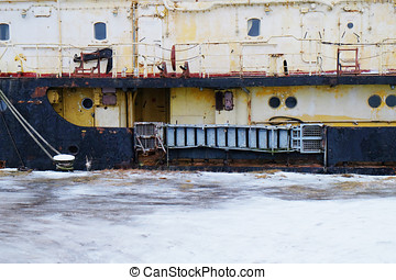 part of an old abandoned ship