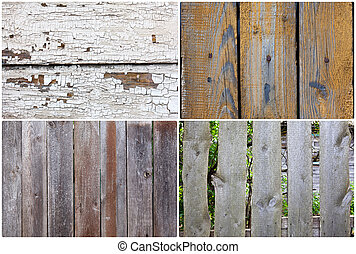 Part of an old wooden fence
