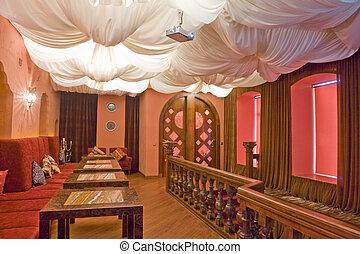 part of an restaurant's interior
