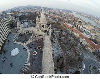 Buda castle district - Part of Buda castle district seen...