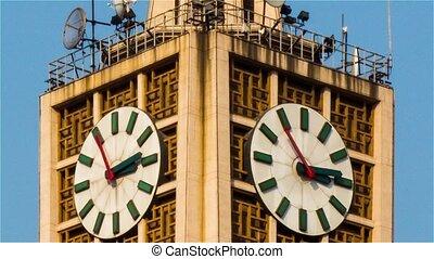 Part of clock tower in Xidan,Beijing,China