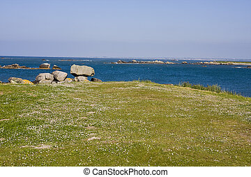 coastline - part of coastline in brittany