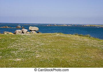 coastline - part of coastline in brittany