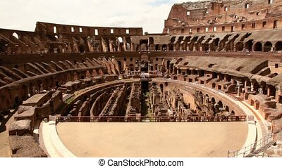 Part of Colosseum arena, area under it, and constructions around