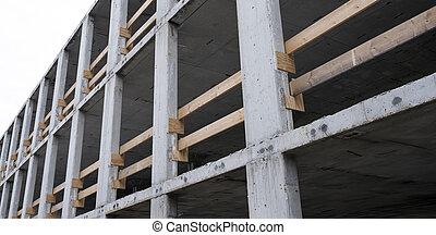 part of concrete construction building site