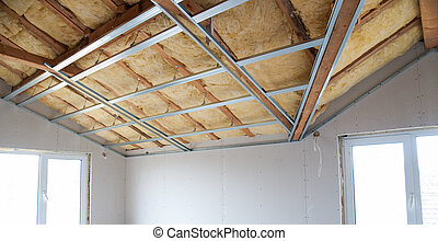 Construction of ceiling insulation
