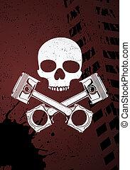part of engine - Black outline vector illustration (engine...
