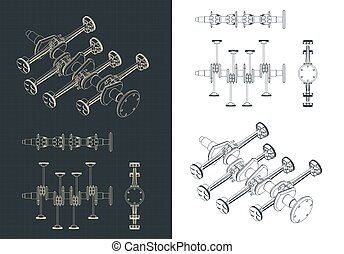 Part of horizontally opposed engine blueprints