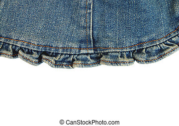 jean fabric on white background