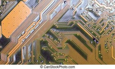 Part of microcircuit closeup - Part of microcircuit close up...